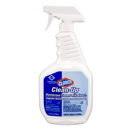 CLOROX CLEAN-UP DISINFECTANT  CLEANER WITH BLEACH 32OZ 9/CS