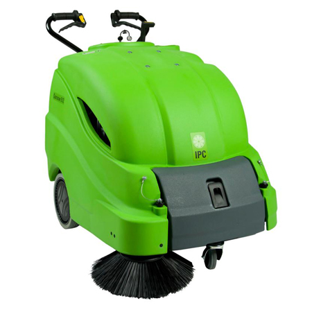 28IN BATTERY SWEEPER WITH ON-BOARD CHARGER AND 100AH AGM