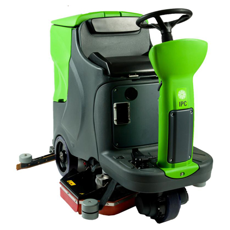 29/30GAL 28IN RIDER AUTOMATIC SCRUBBER WITH BRUSHES AND