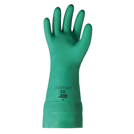 37-165 SOL-VEX NITRILE GLOVES UNLINED 15IN LENGTH GREEN SZ-9