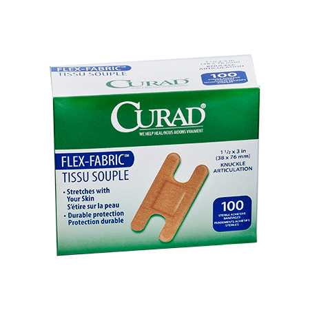 CURAD FLEX-FABRIC WOVEN KNUCKLE ADHESIVE BANDAGES