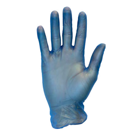 VINYL GENERAL PURPOSE GLOVES POWDERED BLUE MED 100/BX 10/CS