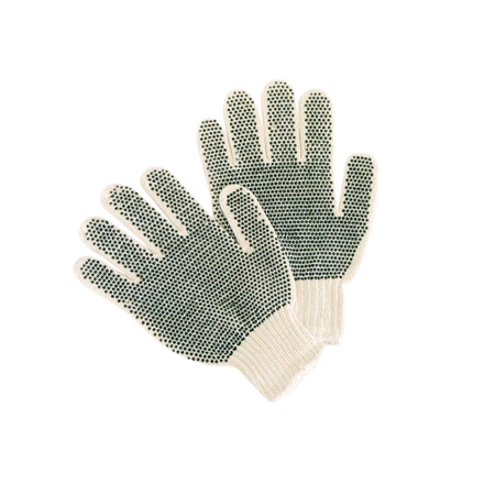 Coated and Dotted String Gloves